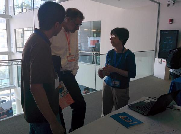 @JanetLDee explaining Scratch and Finch Robot to @mres #ScratchMIT2014 http://t.co/kr3lph3u5r