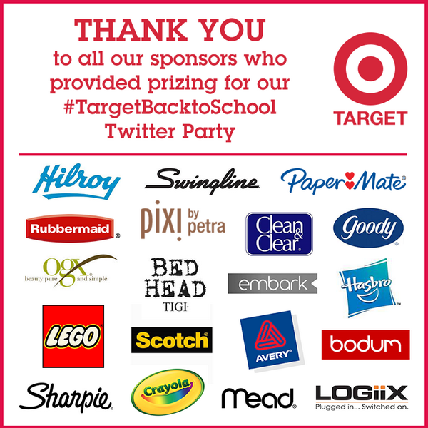 .@TargetCanada has the BEST partners. They provided all of the prizing for #TargetBacktoSchool #TwitterParty http://t.co/PANx5iicrI