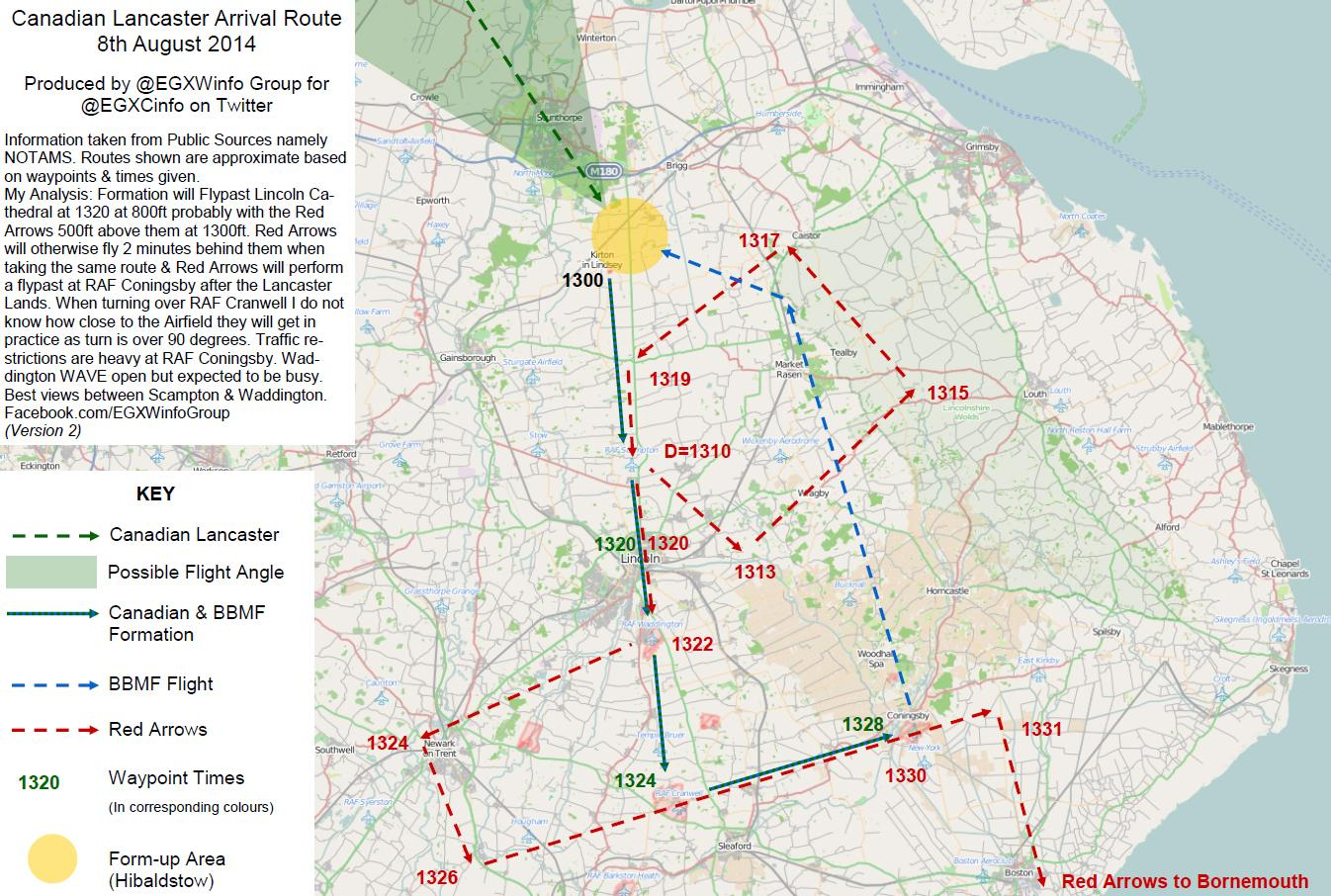 Here is the flightpath for the Lancaster today... I so wish I was there x RT  @EGXCinfo http://t.co/THSejZ2Wlx""