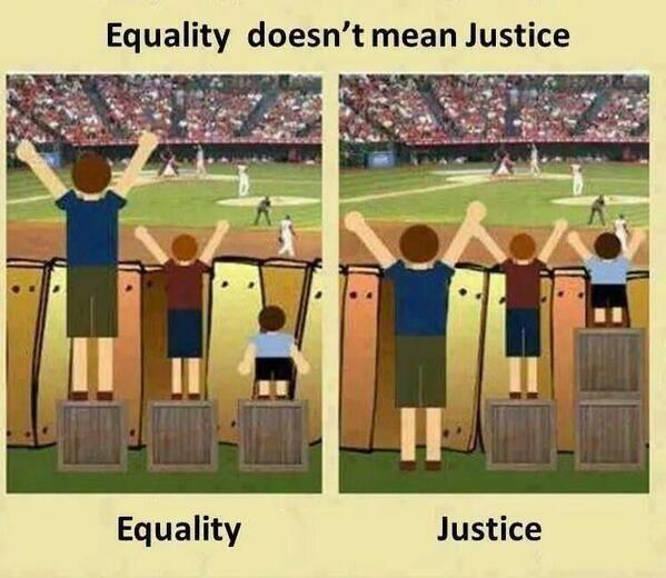 """Equality doesn't mean justice."" http://t.co/FweaNEissN"