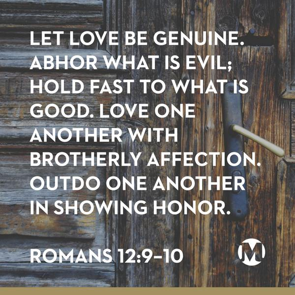 Image result for Romans 12:9-10