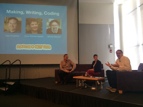 New technology makes us rethink the way we write and make things — @mres #ScratchMIT2014 http://t.co/b7yKVGaWma