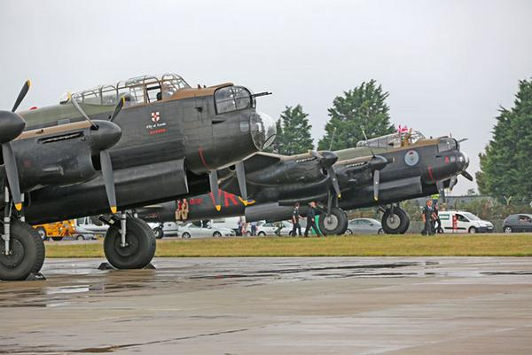 Welcome home Vera. After many days and many thousands of miles. The Canadian Lancaster has landed at RAF Coningsby http://t.co/VXsmvfFe0d