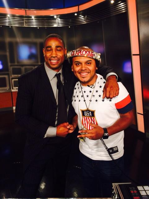In the studio @myfoxdc with @fsmoot27 and the First Latino Dj to do Good Day DC @DJXPLOSIVEBOOM http://t.co/UKyjX1QGQy