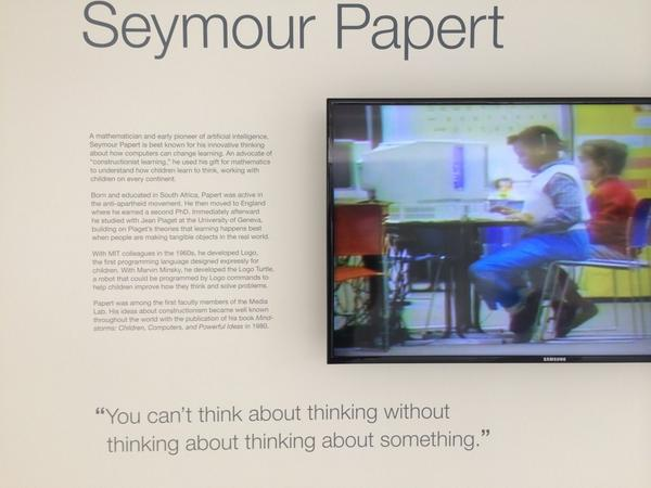 Seymour Papert's profound influence is ever more apparent. #ScratchMIT2014 http://t.co/Wn4Fr0sePX