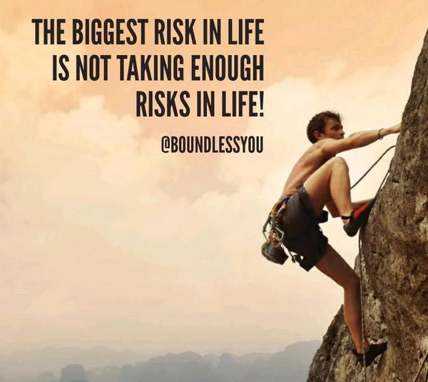"""the biggest risk """"with going for it, i mean having the mindset that the biggest risk is taking no risks at all the worst thing that can happen for any brand in any market,."""