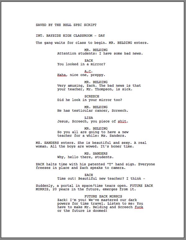 how to write a spec script