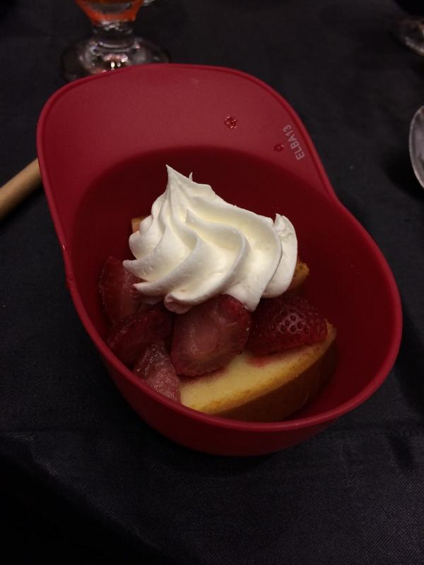 Strawberry shortstop cake. Yum! #MIBWSTL http://t.co/Lr4Dw401QQ