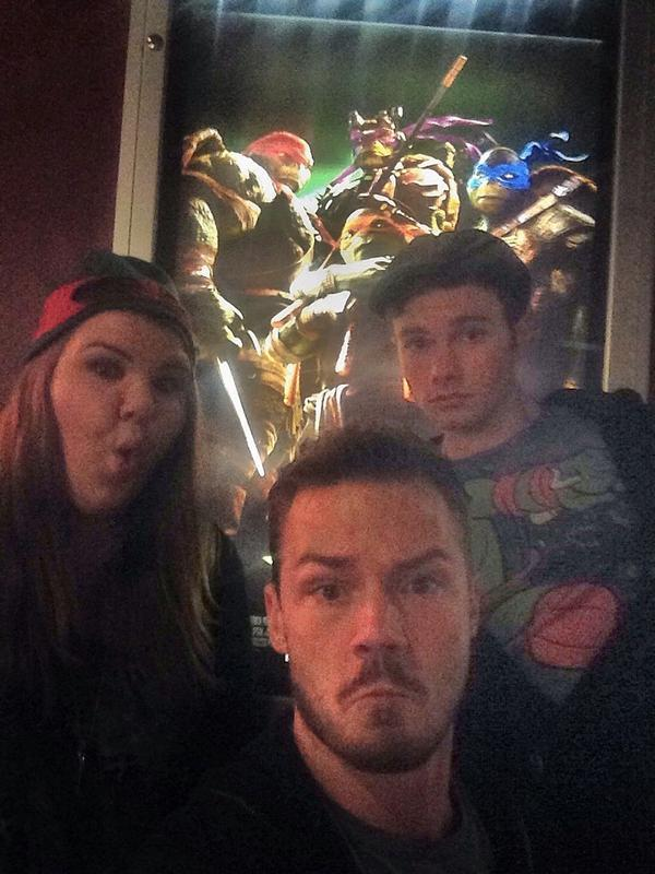 Obviously @chriscolfer Will & I had to see the midnight screening of #TMNT #cowabunga @noel_fisher You killed it!