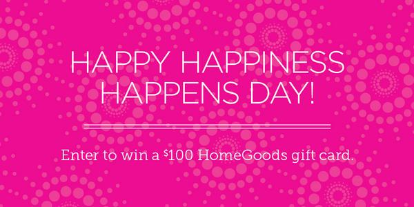 In honor of #HappinessHappens please tell us about a random act of kindness! #HomeGoodsSweeps http://t.co/XvEcSj6rMA http://t.co/inZ1GpvIan