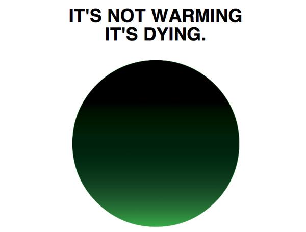 Designer Milton Glaser suggests a logo for discussions on global warming . . .