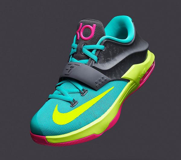 huge discount f0c00 e4f6f real bujglobiyaadafa ec289 4da01 real bujglobiyaadafa ec289 4da01  50% off  turquoise yellow pink black kids size basketball shoes nike zoom kd 7  carnival