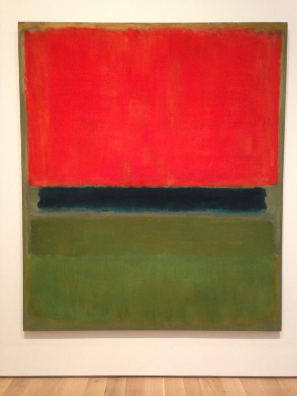 Luxuriant color in Rothko at St Louis Art Museum followed by Joseph Beuys' artist in a gray flannel suit. http://t.co/yHFmvHuTl5