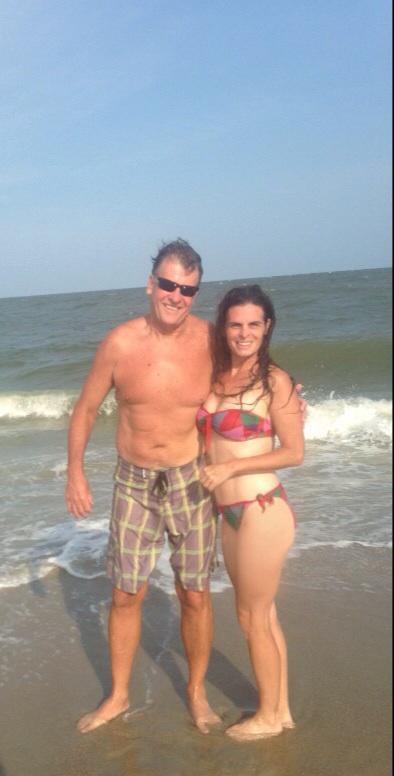 Mature wife at beach
