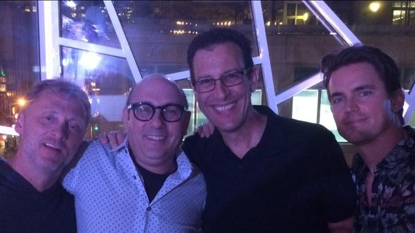 The #WhiteCollar series wrap party 2 nights ago. Lotta laughs, lotta tears. @WillieGarson @TimDeKay was late as usual http://t.co/gIn6J84iFk