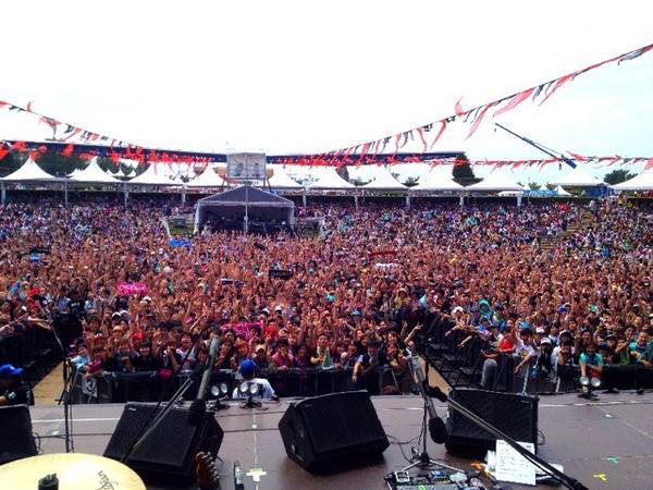 back number ROCK IN JAPAN FESTIVAL 2014 LAKE STAGE  終了( ´ ▽ ` )ノ http://t.co/JkbDnRU737