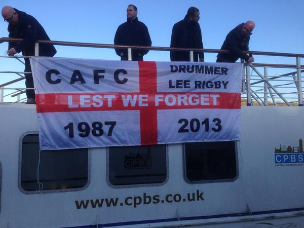 #cafc first game of 2014/15 season away to Brentford. The best & only way to travel #SkaBoat #COYA #AwayDays http://t.co/VvfP212Iw4