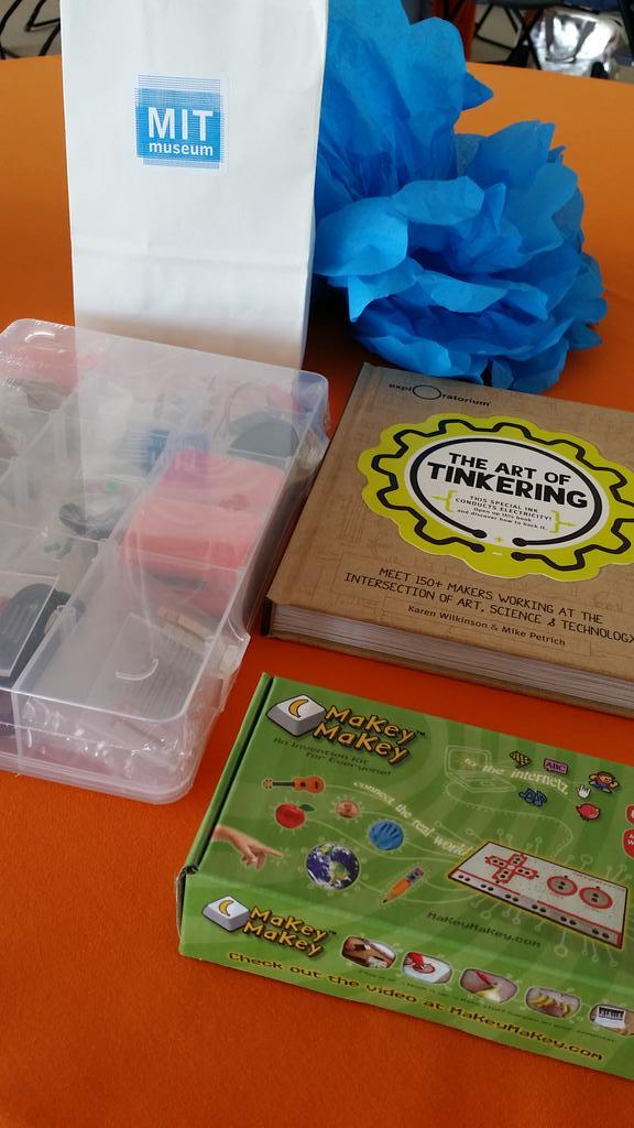 Inspired by #ScratchMIT2014, my kiddo & I just bought some fun new tinker(ing) toys :-) #excited Great conference! http://t.co/5cGMAd4oJl