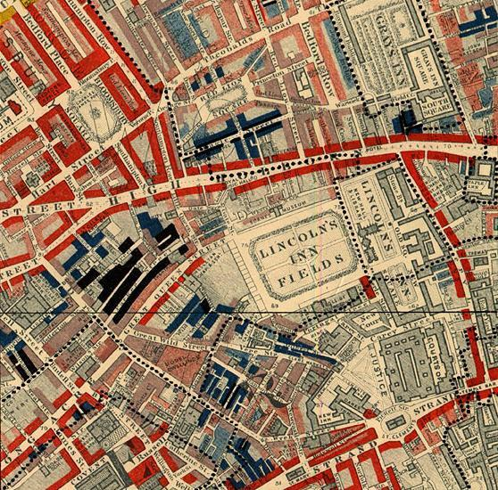 Davenant On Twitter Booths Poverty Map Of Lincolns Inn Fields In London C1889 Red Middle Class Black Loafers Semi Criminals