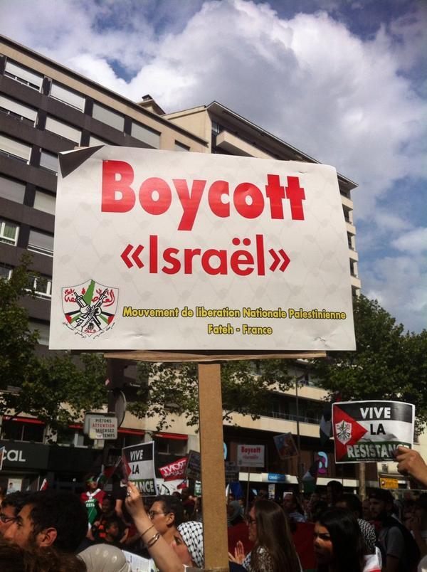 Dans la manifestation en soutien à Gaza, le succès des appels au boycott d'Israël