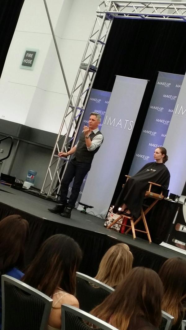 Happening NOW: Kevin James Bennett on Stage @IMATS @KJBennettBeauty http://t.co/Ed7DMGAOJ7