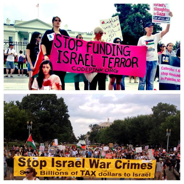 Great turn out today at the White House: Not another nickel..not another dime..NO more money for Israel's Crimes! http://t.co/okuhKASfoV