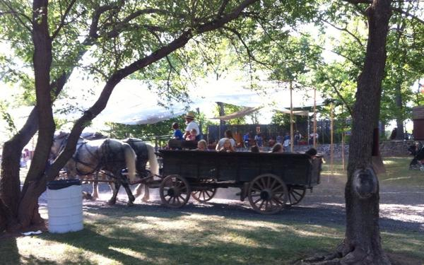 But some find time to take one last wagon ride in a shady grove @ Goschenhoppen Folk Festival. http://t.co/hLq58jt1nV