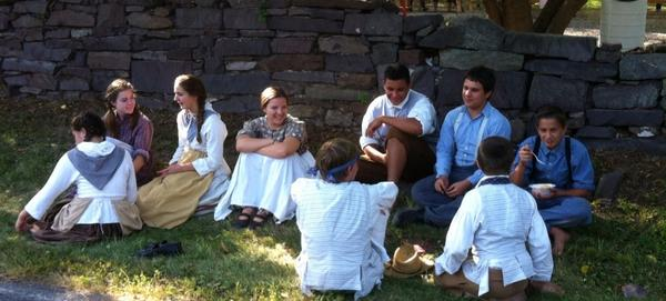 Apprentices take a break as Goschenhoppen Folk Festival winds down. http://t.co/fEtUuIFzTI