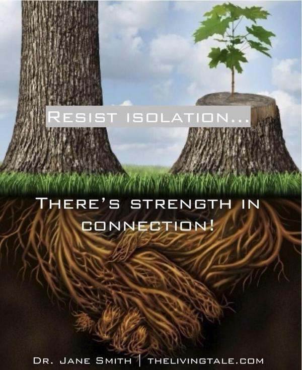 Community connections strengthen you...