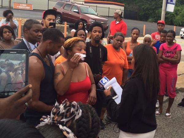 The mother of the boy killed in #Ferguson speaking to media about the loss of her son. http://t.co/YlxEDKoebB