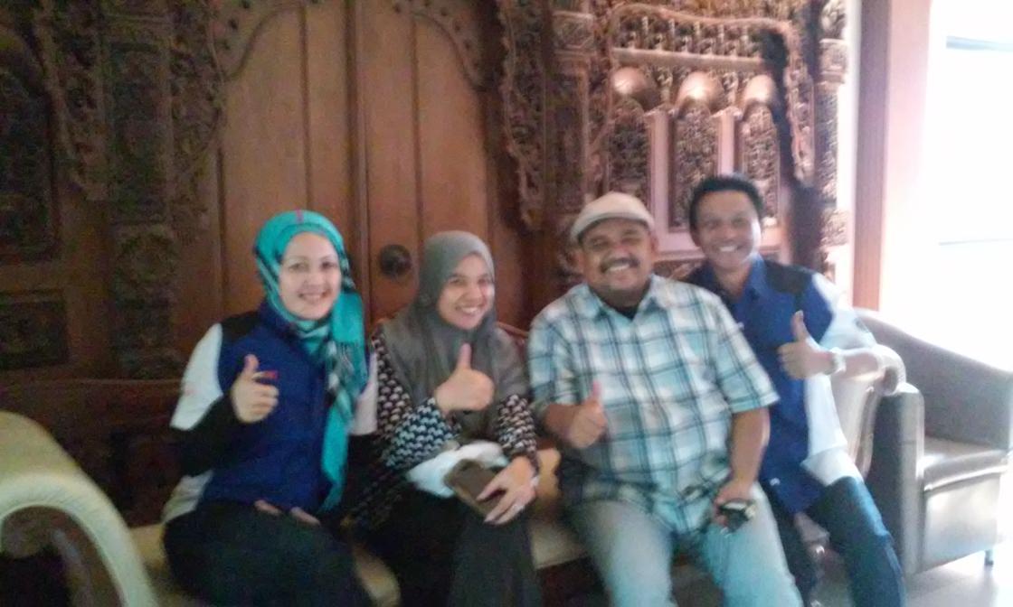 Teh Enchi Hani, Teh Meti Media, Omjay dan Kang Eri di SMK Bahagia Bandung