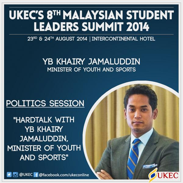 Want to see YB @Khairykj take on some tough questions Hardtalk style? :) All you need to do is register and show up! http://t.co/3bW2vexYKT