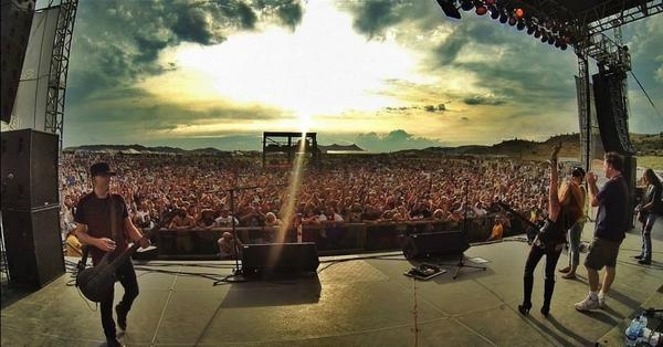 Yesterday, on stage in Montana when @LitaFord got a sea of people to sing Happy Birthday to @EddieTrunk: http://t.co/8QKbNdpbSD