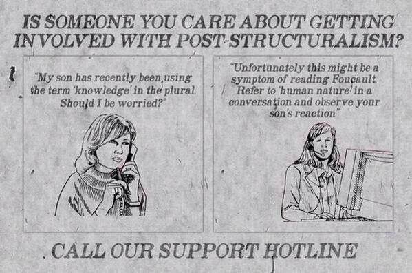 PSA. The perils of post-structuralism   http://t.co/cvPKTfhVbP v @DexterDiasQC @InternatlTheory @annaverve