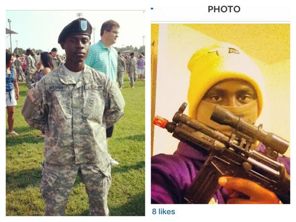 #IfTheyGunnedMeDown would they use my pic on the left or the right? http://t.co/W3W1EUMXvz