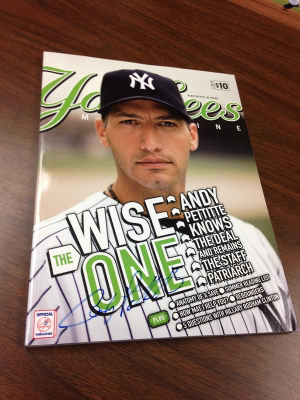 Giving away Andy Pettitte signed Yanks Magazine RT by 11am tmrw 4 chance 2 win @MiLB #MascotMania #VoteRookieThunder http://t.co/WuWt9qmuV5