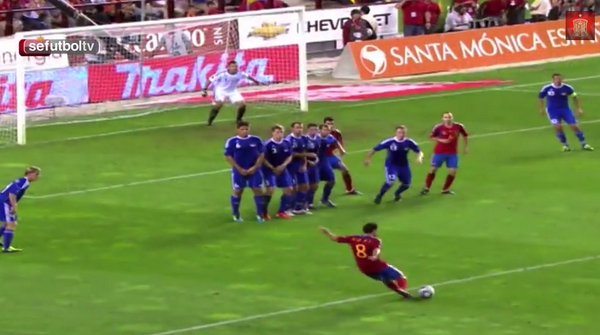 Spanish FA pay tribute to Xavi with video of his 7 best goals for La Roja [Video]