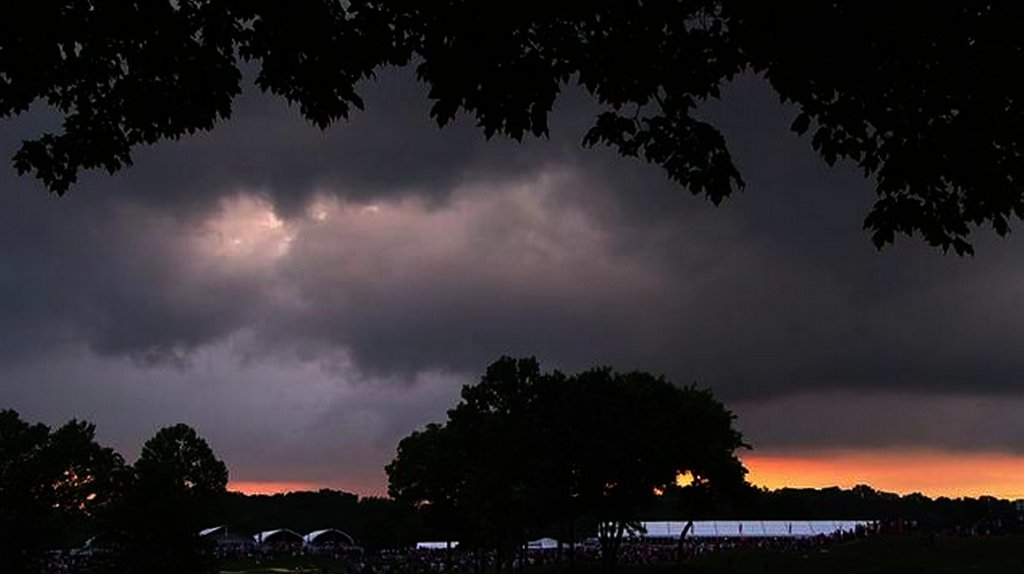 It was incredibly dark at the end of the PGA Championship