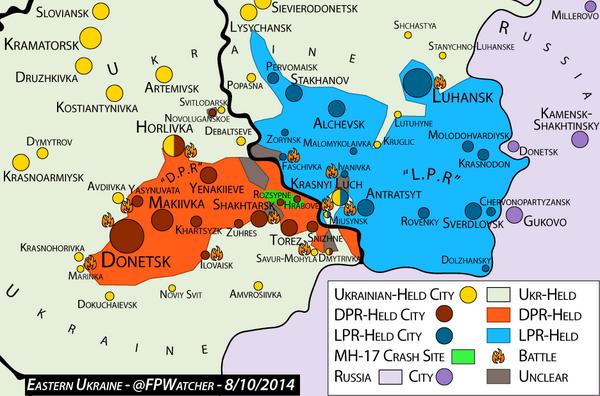 ForeignPolicyWatcher on Twitter Ukraine Map 810 ATO fights – Map Ukraine Fighting