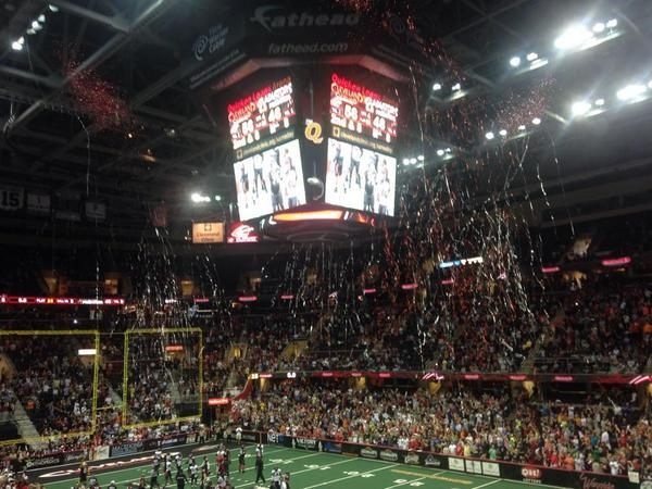 #ArenaBowl XXVII is coming to Cleveland! Congratulations to the American Conference Champion @CLEGladiators! http://t.co/g3QRaTmKXx
