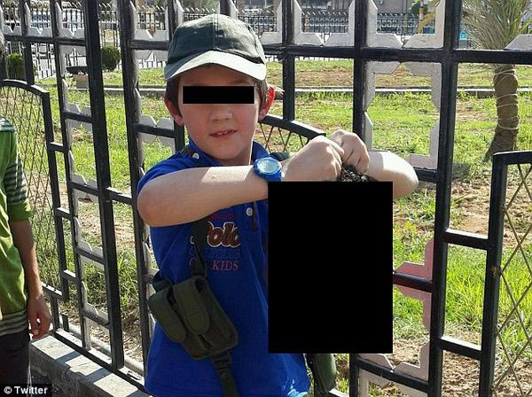 7 year old Australian Muslim shows off severed head
