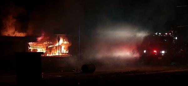 No doubt RT @MiSSHONEYB: Pray for STL ❤️RT @MichaelSkolnik: QuickTrip is burning to the ground. #Ferguson http://t.co/hVNwRCykb3
