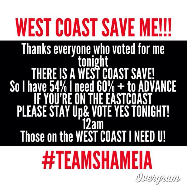 THOSE ON THE WEST COAST VOTE!!! East COASTERS PLEASE STay up to VOTE! http://t.co/72uNbuofMC