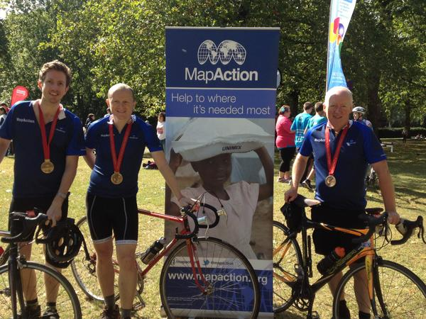 the 3 knackered cyclists at the end!