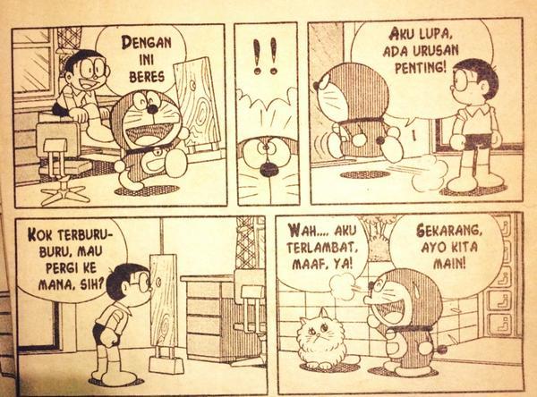 Contoh Gambar Ilustrasi Komik Doraemon Materi Pelajaran 9