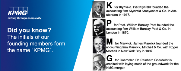 Find out more about the history of KPMG: http://t.co/VsqrNwu2Cr http://t.co/esLw8u60BE