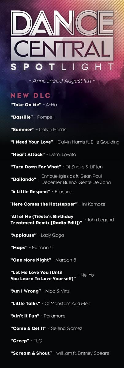 We're thrilled to announce more DLC songs that will be available for Dance Central Spotlight! Which is your fave? http://t.co/Eob0TZdU3u