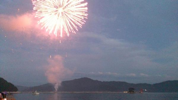 花火の打ち上げが始まりました! http://t.co/5BkEHA84I4
