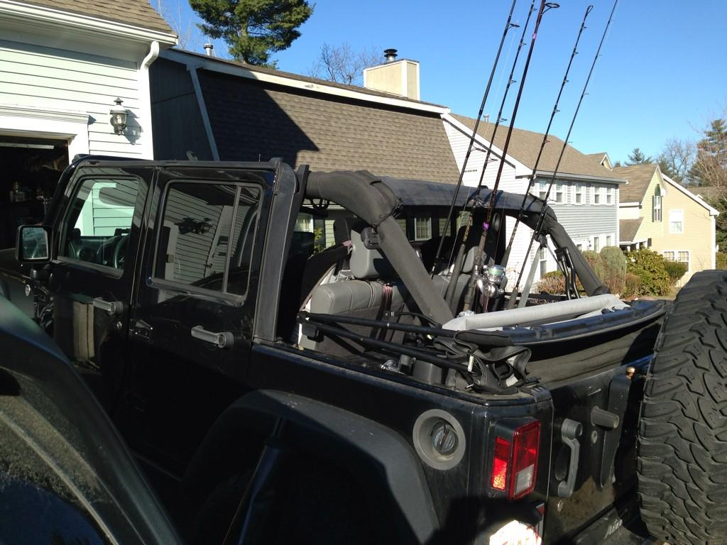 Ifuckinglovefishing on twitter homemade rod holder for for Jeep fishing rod holder