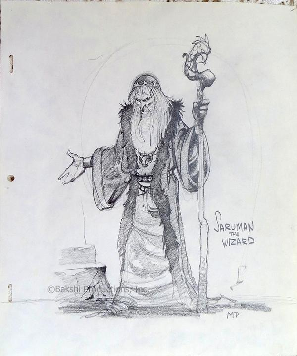 "Lord Of The Rings Nazgul Concept Art By Mike Ploog: Ralph Bakshi On Twitter: ""Early #Saruman #conceptart By"